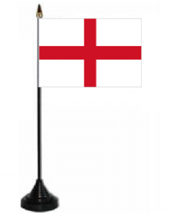 England Desk / Table Flag with plastic stand and base.